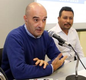 Francisco Javier Gaviria, responsable del área de jardín en LEROY MERLIN (en primer término), junto a Julio Escalante, Presidente de FORESCOM.