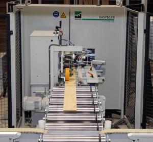 Sistema automático de corte, saneado, optimizado y clasificado de toda la madera, mediante un escáner LUXCAN.