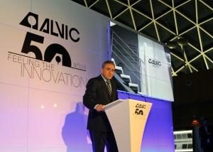 Javier Rosales, Consejero Delegado del Grupo ALVIC, durante su intervención en la celebración del 50 Aniversario de la compañía.
