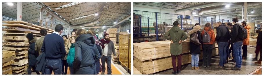 Explicaciones recibidas en la empresa Grupo Gámiz y visita a sus instalaciones.